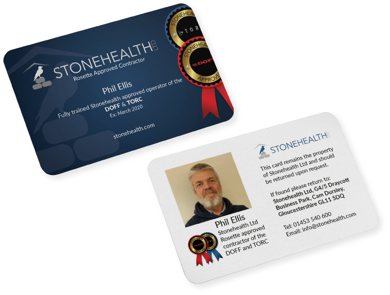 Stonehealth Rosette Approved Contractors ID Card